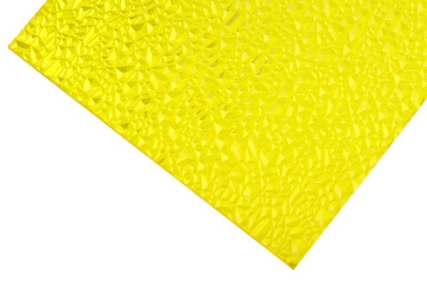 Yellow texture polycarbonate sheet