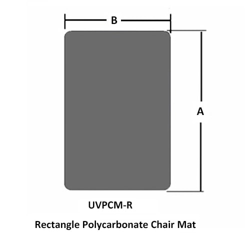 Rectangle Polycarbonate Chair Mat