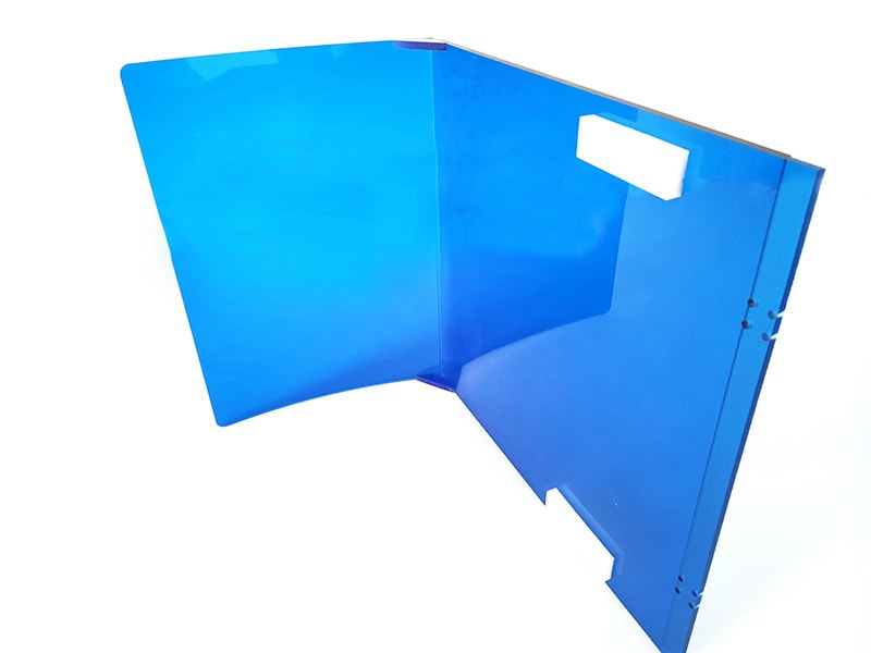 bending to polycarbonate shield
