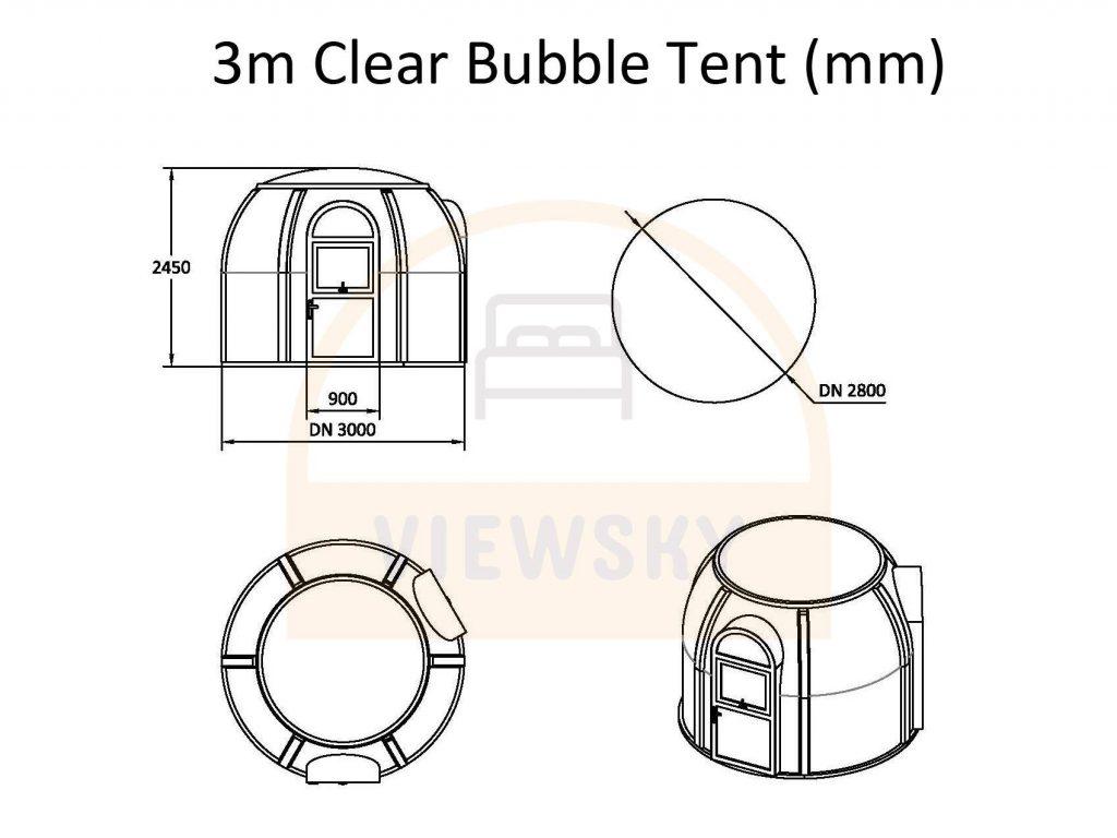 UVPLASTIC clear bubble tent
