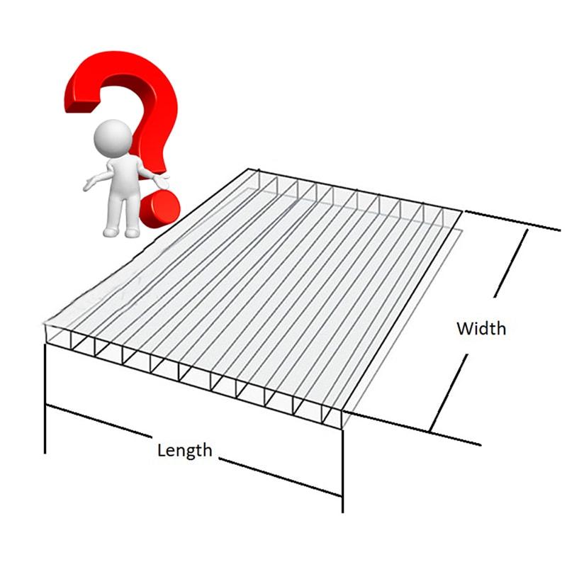 Multiwall polycarbonate sheet Size