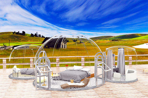 Geodesic Glamping dome tent