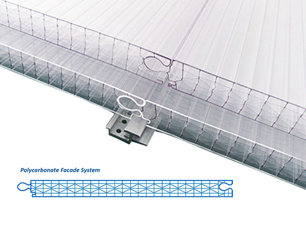 Polycarbonate Curtain Wall sheet