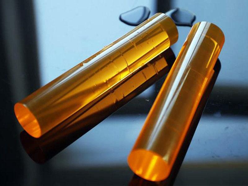 Yellow Plexiglass Rod