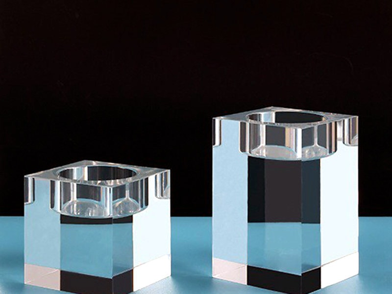 Clear Square Plexiglass Part