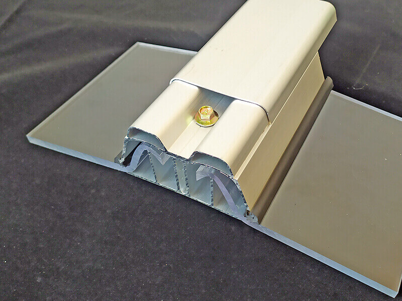 Solid polycarbonate roofing panel