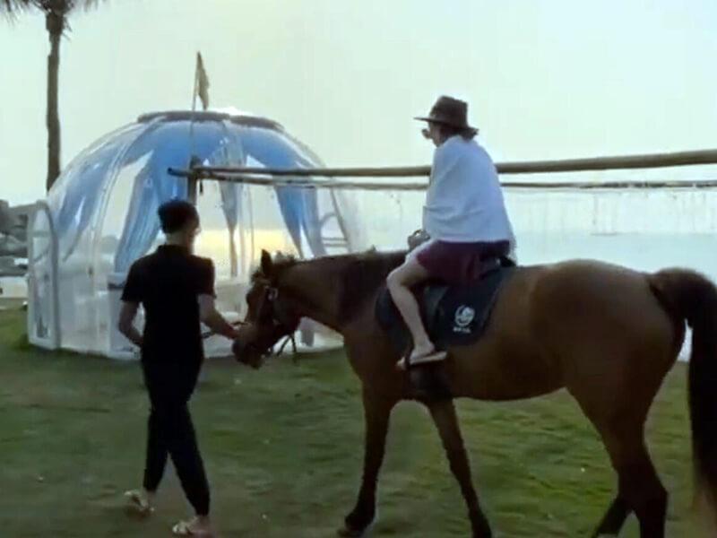 Bubble tent at Riverside