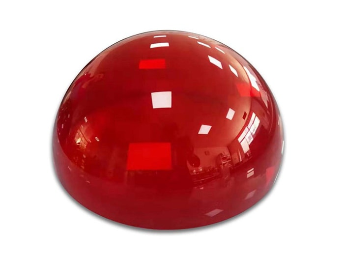 Red Plexiglass Dome