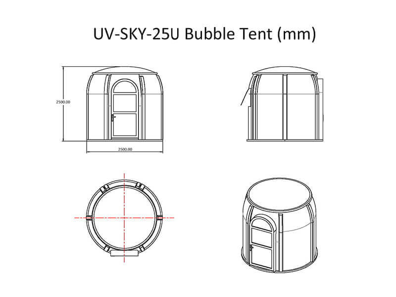 UV-SKY-25U bubble tent